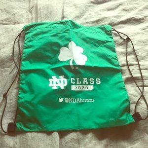 Handbags - Notre Dame drawstring bag NWOT
